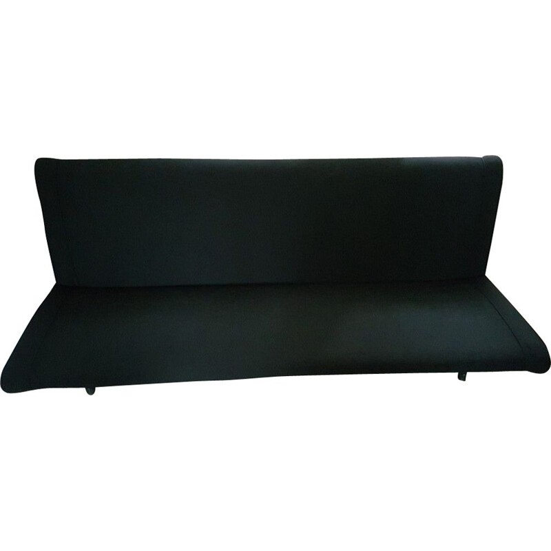 Vintage D70 sofa for Tecno and by Borsani in black fabric 1950