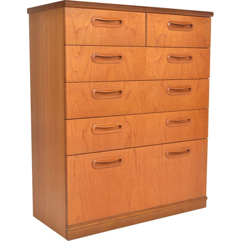 Vintage Meredew 6 chest of drawers in teak 1960