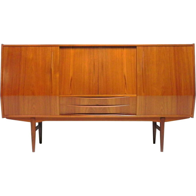 Vintage sideboard in teak and rosewood, Scandinavian