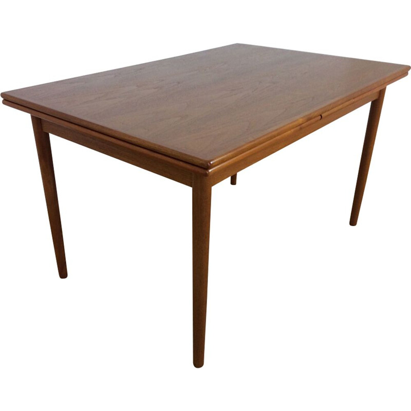 Vintage dining table in teak, extendable, by Niels Otto Moller, Danish,  1960s