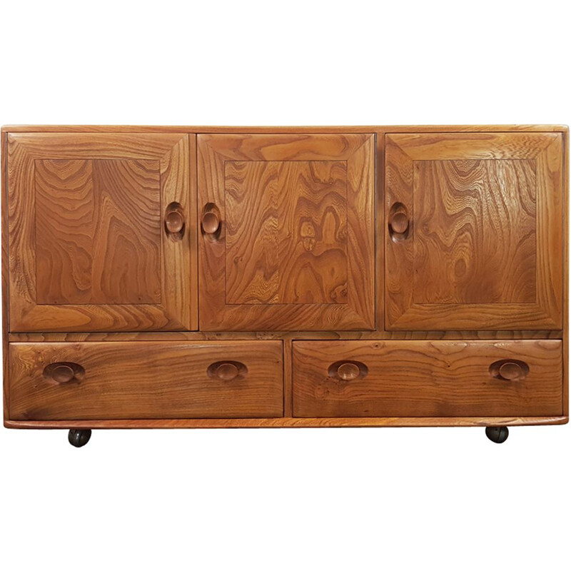 Vintage Sideboard in elm, No.2 by Lucian Ercolani for Ercol, English, 1960s