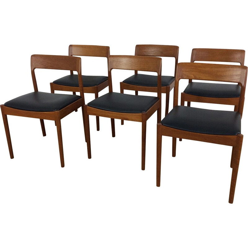Set of 6 vintage dining chairs in teak by Dalescraft, British, 1960s