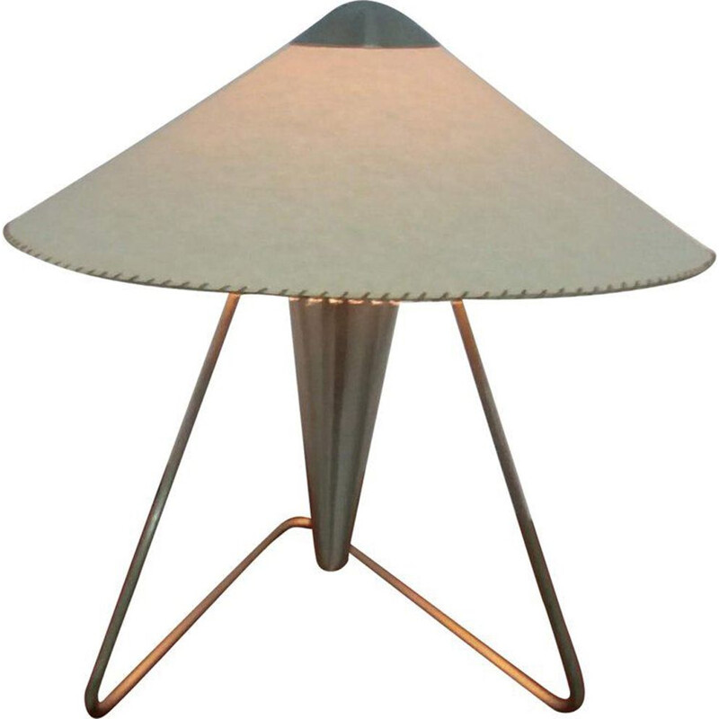 Vintage lamp by Frantova for Okolo in beige paper and metal 1950