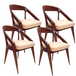 4 vintage chairs, Charles RAMOS - 1960s