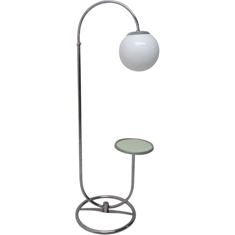 Bauhaus chromed floor lamp by Robert Slezak