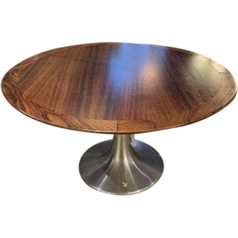 Coffee table in rosewood by Eero Saarinen