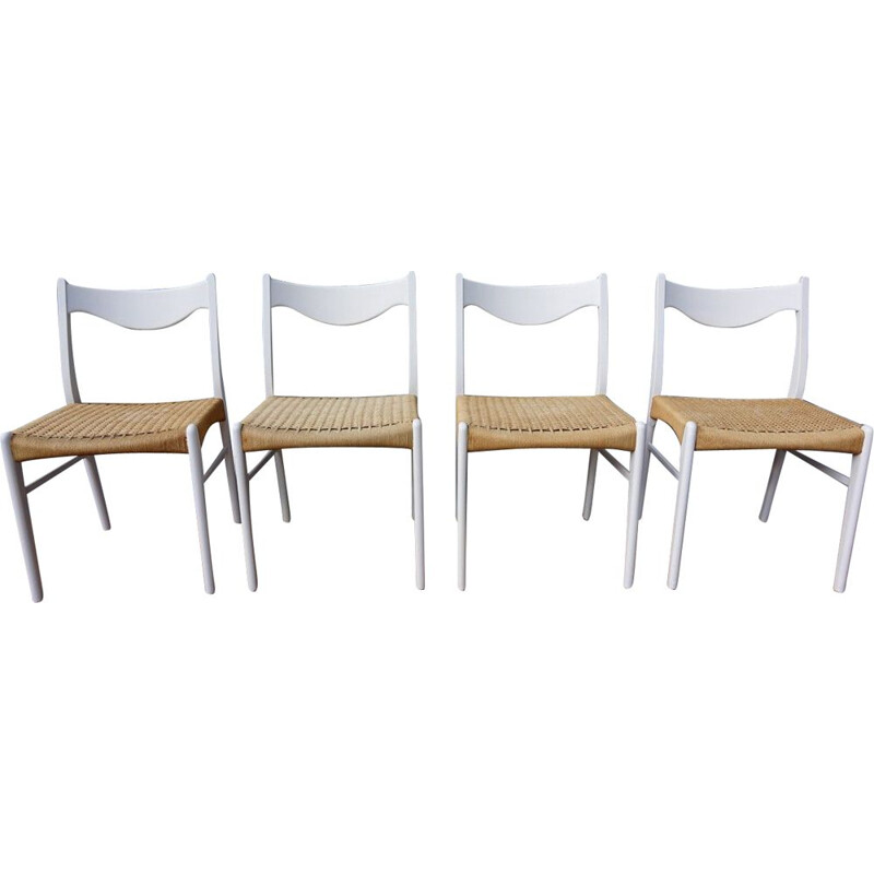 Set of 4 dining chairs by Peder Kristensen
