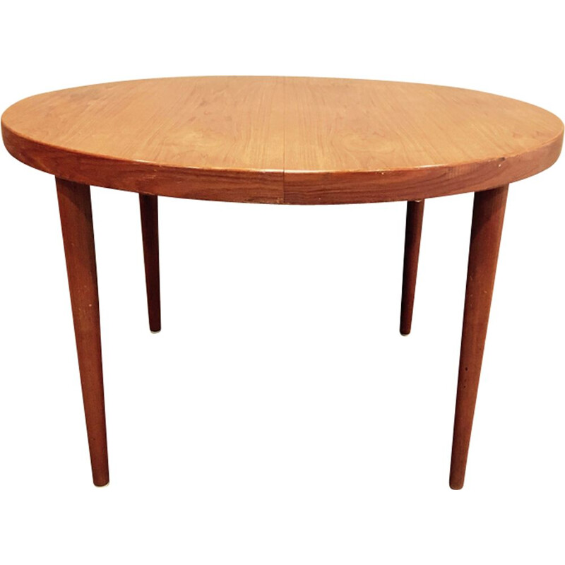 Scandinavian round table in teak