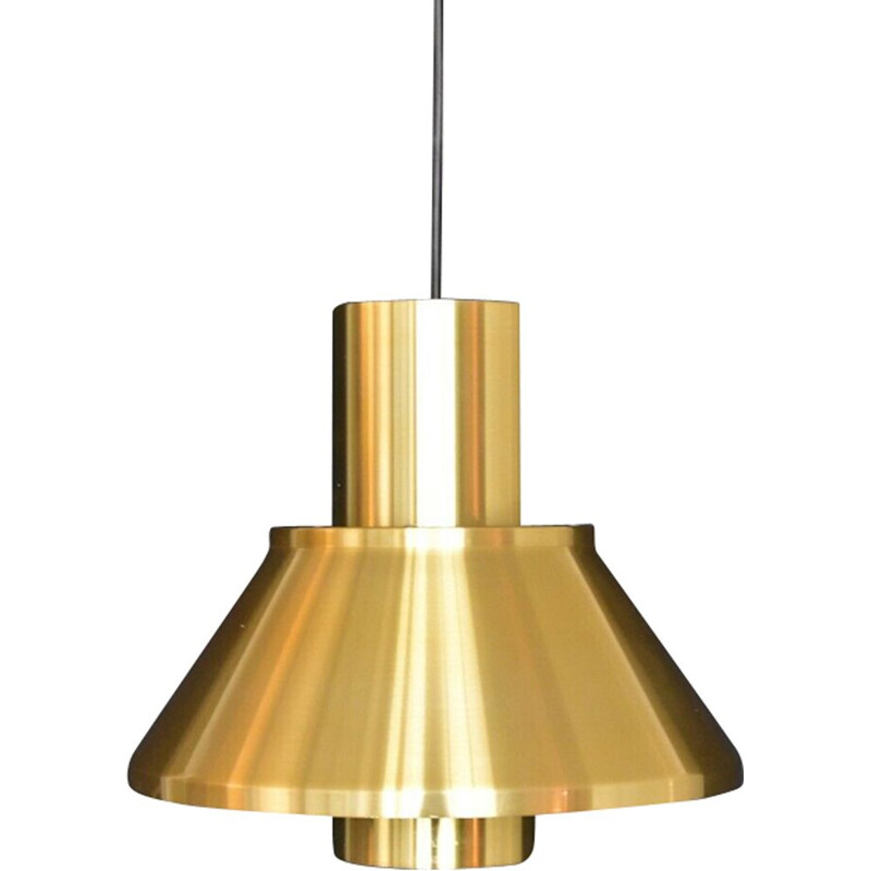 Golden pendant lamp by Jo Hammerborg for Fog & Mørup