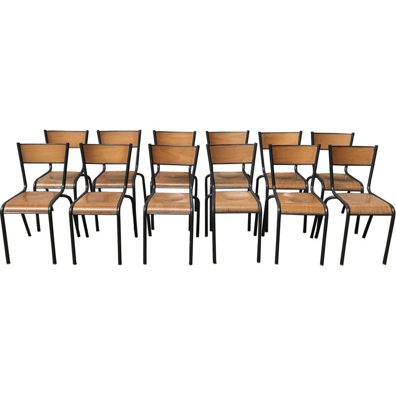 Set of 12 vintage chairs, model Mullca 510