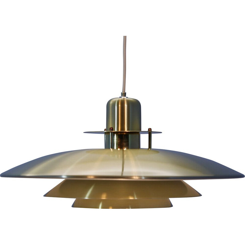 Danish pendant lamp in brass-coated aluminium