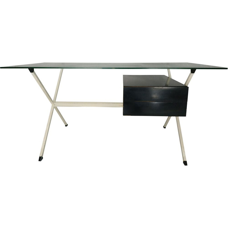 Vintage desk N80D by Franco Albini for Knoll 70s