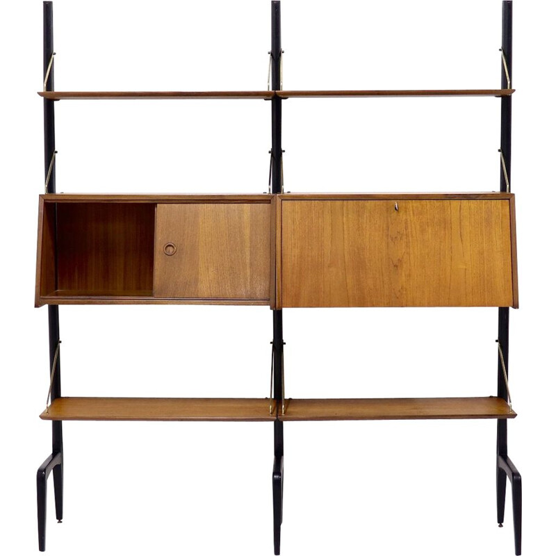 Vintage shelf in Teak by Louis van Teeffelen for WeBe 1950s