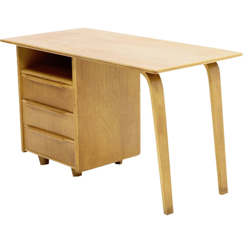 Vintage desk Pastoe EE02 Oak Series by Cees Braakman 1940s