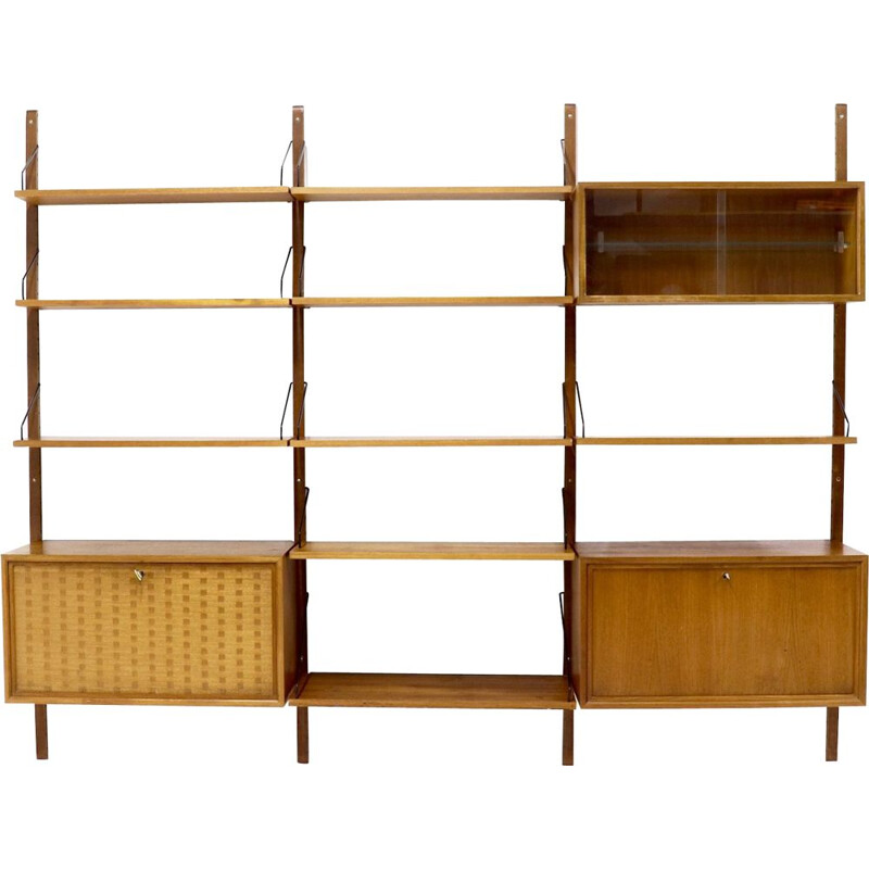 Vintage bookcase in teak Royal System by Poul Cadovius for Cado, Denmark, 1960s