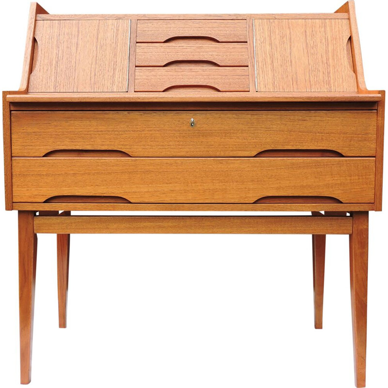 Vintage danish teak writing desk 1960s