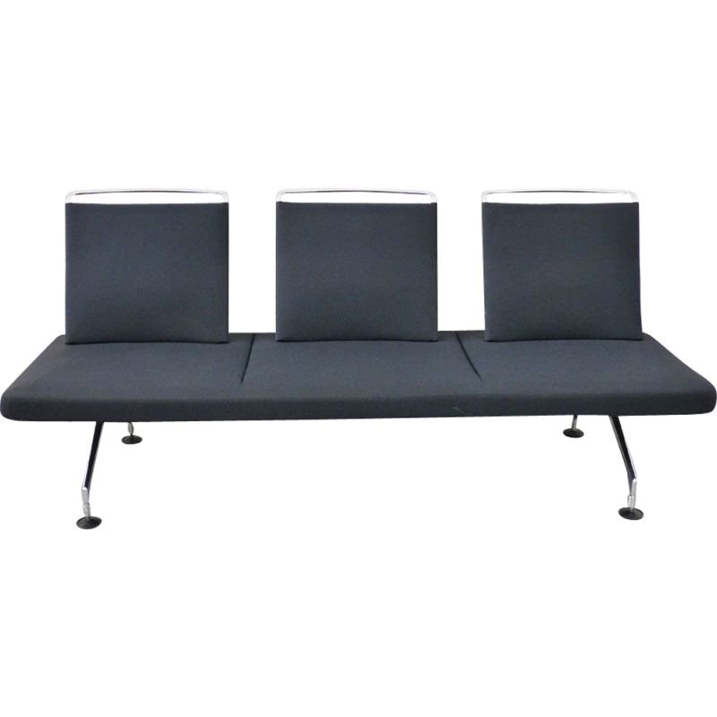 Vintage Area sofa for Vitra in chrome and black fabric 1990