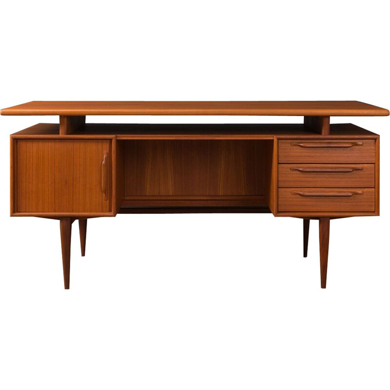 Vintage writing desk for Heinrich Riestenpatt in teak 1960s