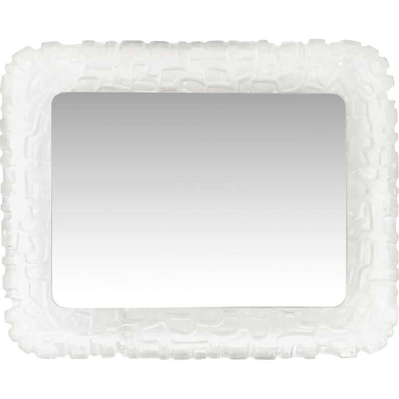 Vintage mirror in plexiglas by Hofmann