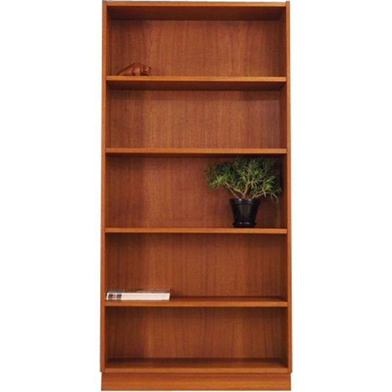 Vintage danish bookcase in teakwood 1970