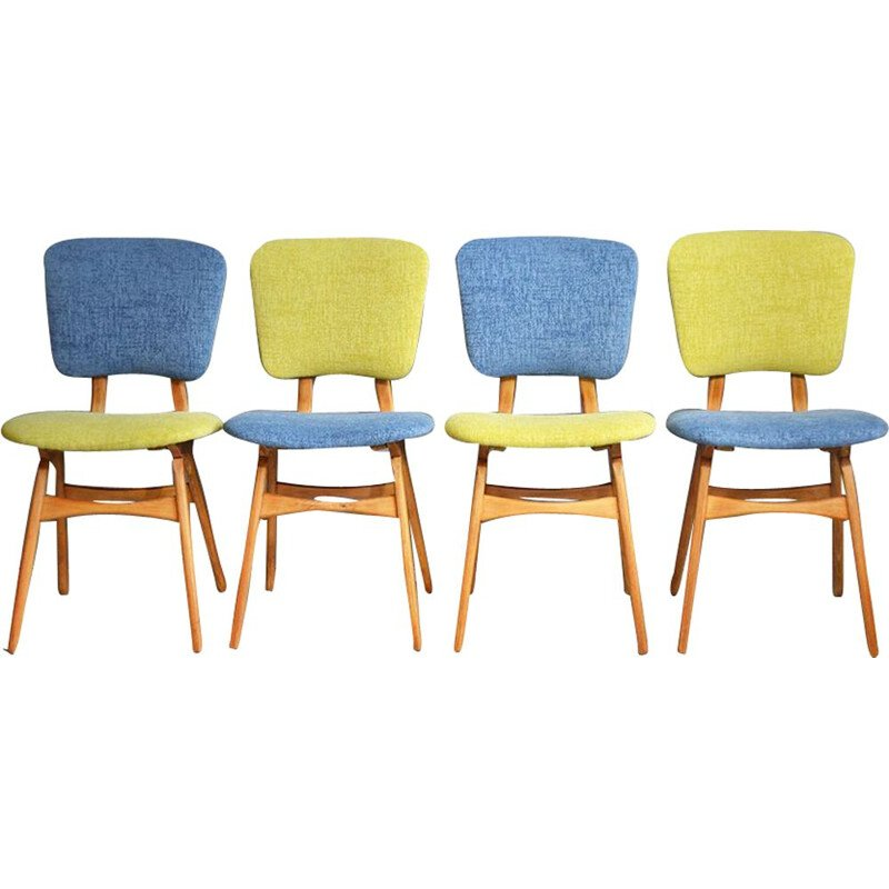 Vintage set of 4 dining chairs from the 50s