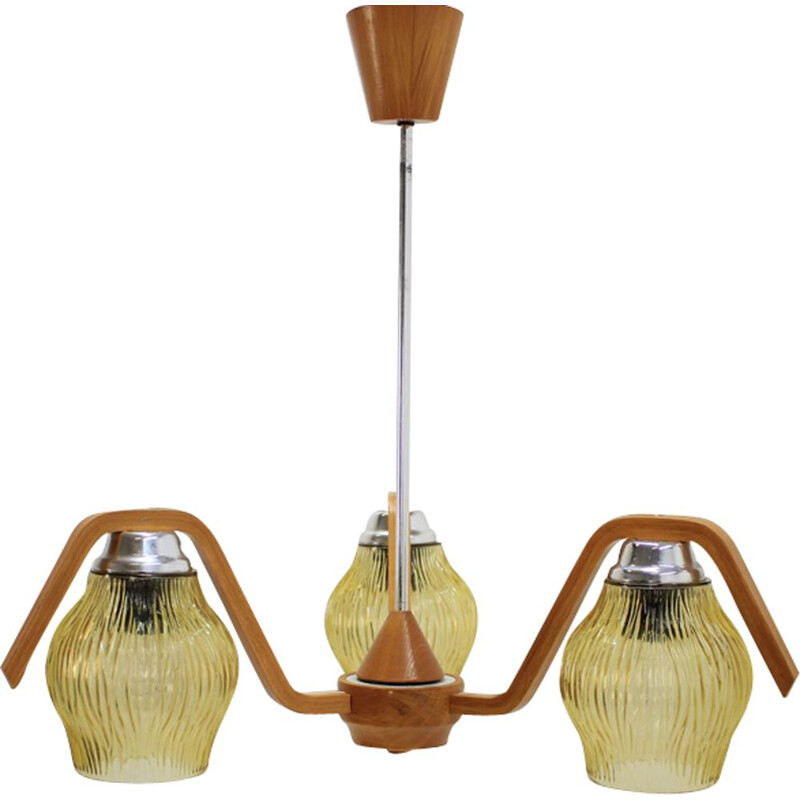 Vintage Czechoslovakian pendant light, 1960