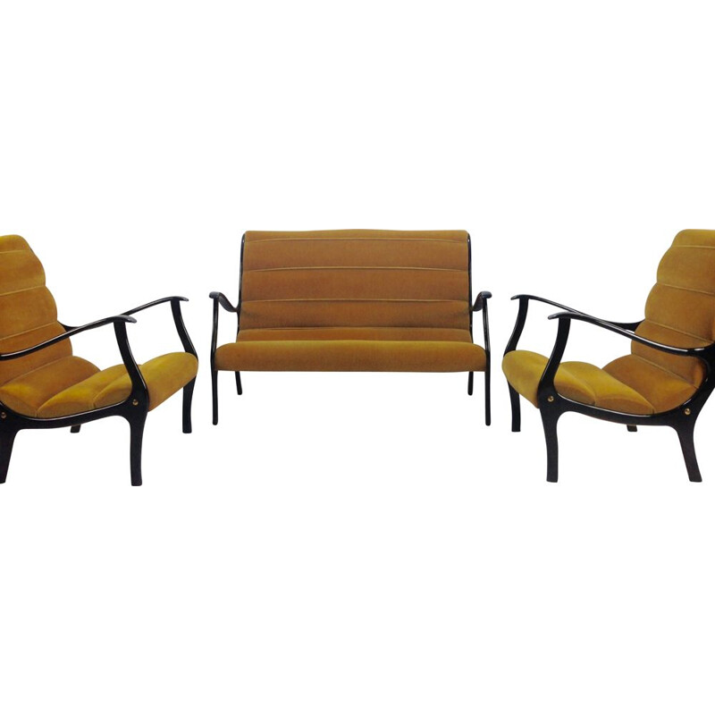 Vintage Italian lounge set by Ezio Longhi for Elam, 1950