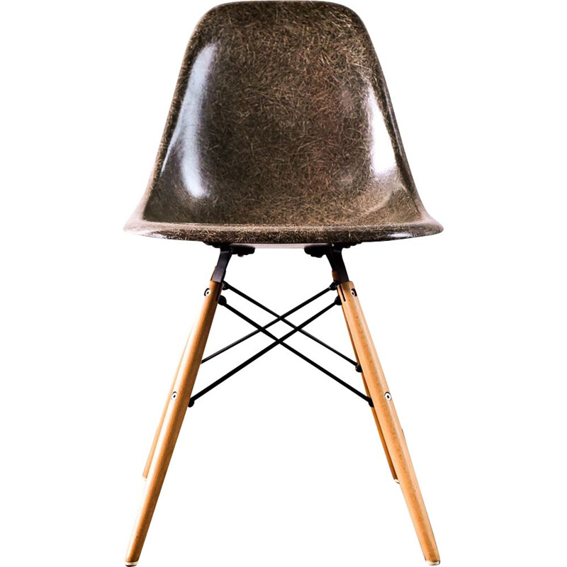 Vintage fiberglass dining chair by Charles & Ray Eames,1958