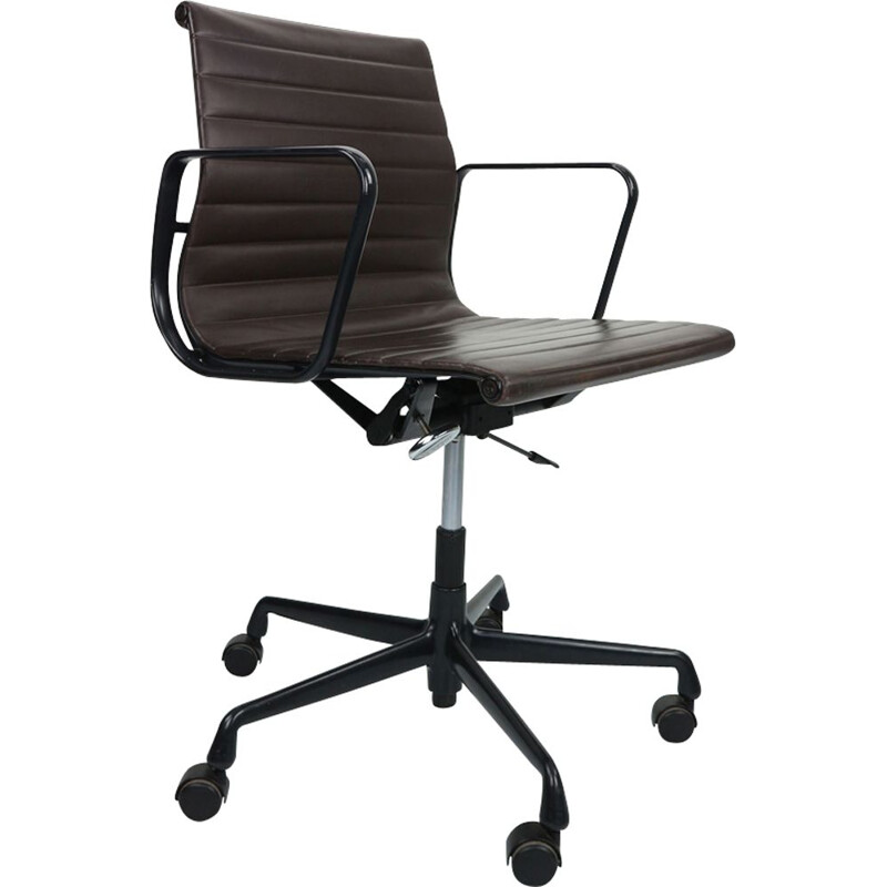 Vintage Desk Chair EA 117 by Charles Eames for Vitra in leather