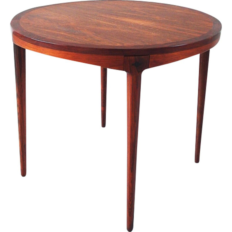 Vintage Side Table in Rosewood by Haug Snekkeri, Bruksbo Norway, 1960s