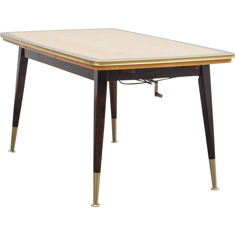 Vintage dining table / coffee table with graphic pattern 1950s