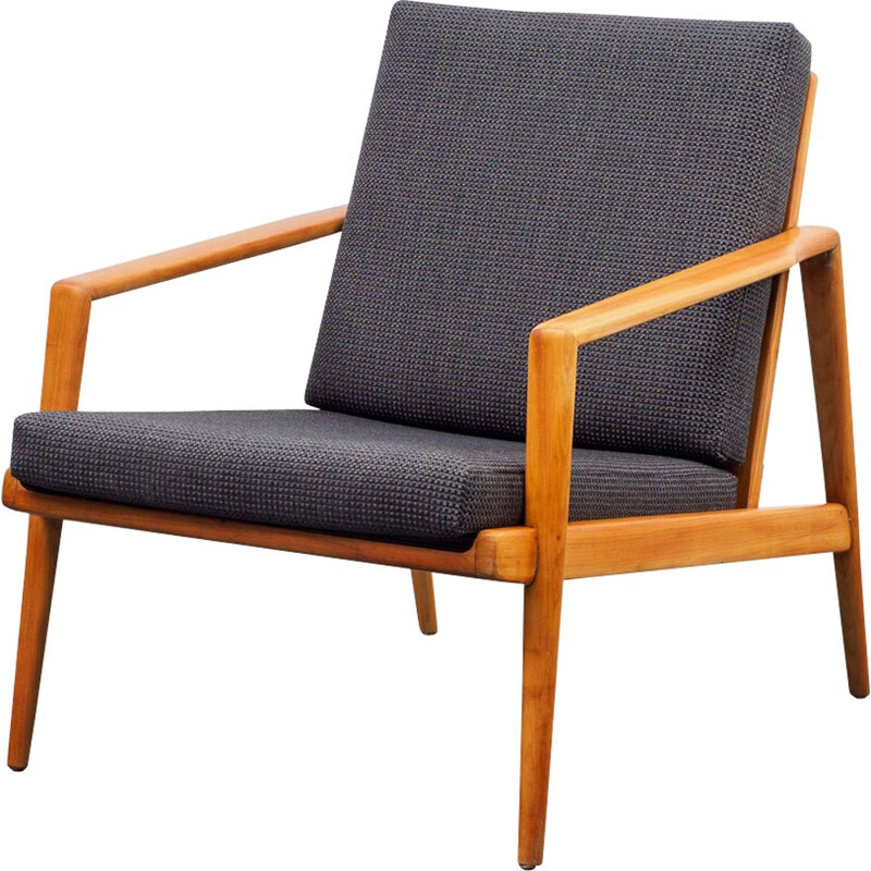 Vintage easy chair cherrywood, 1960s