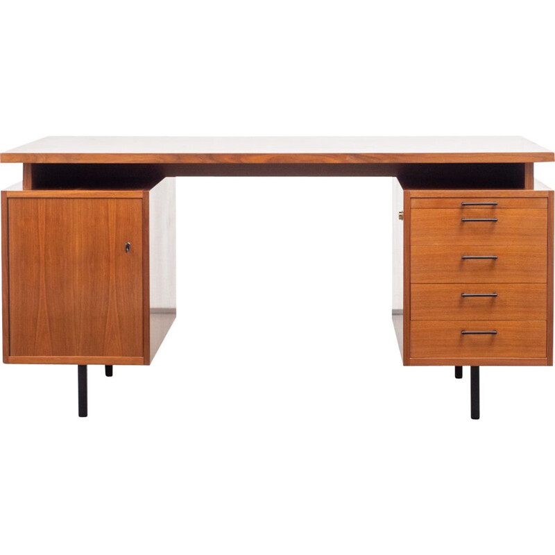Vintage desk cubical in walnut, 1960s
