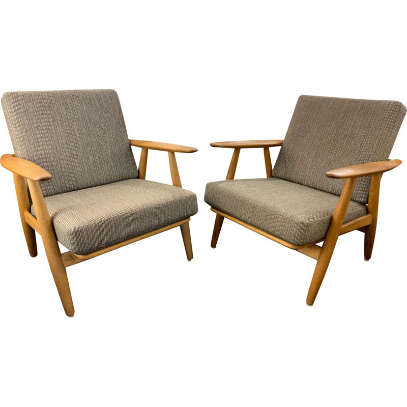 Pair of vintage Scandinavian armchairs by Hans Werner for Getama