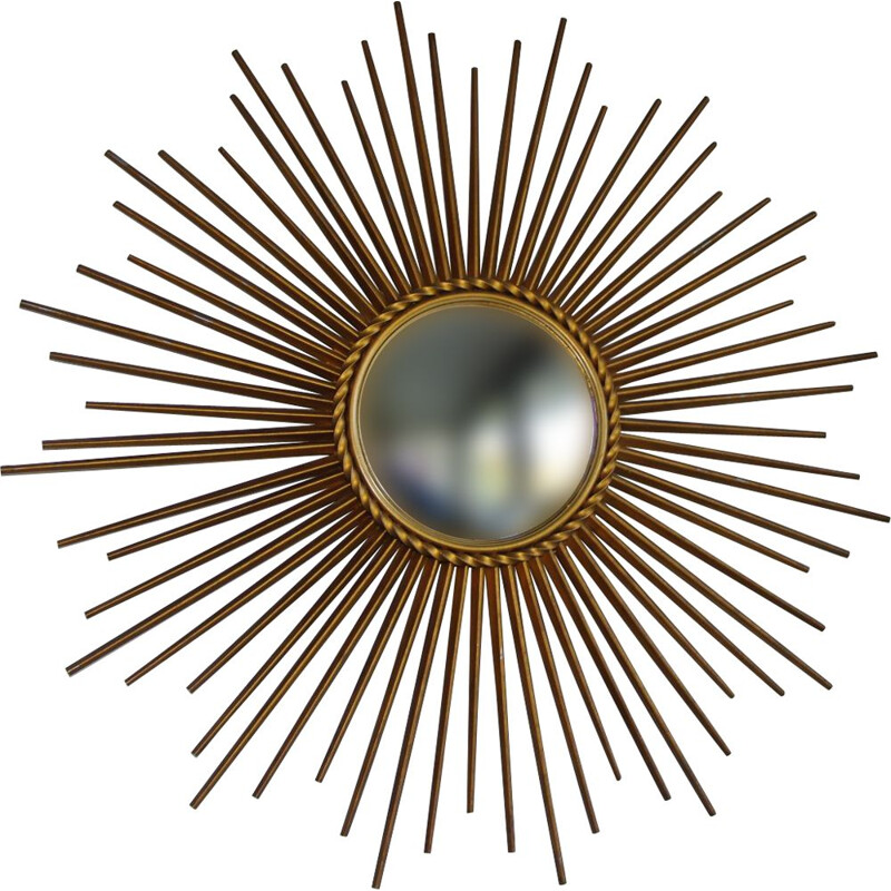 Vintage sun mirror by Chaty Vallauris,1950