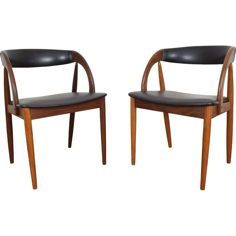 Set of 2 vintage Dining Chairs, Danish, 1960s,
