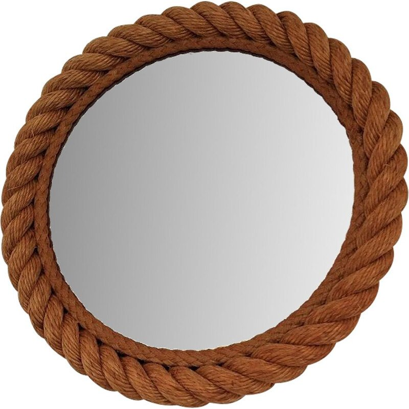 Vintage mirror in rope