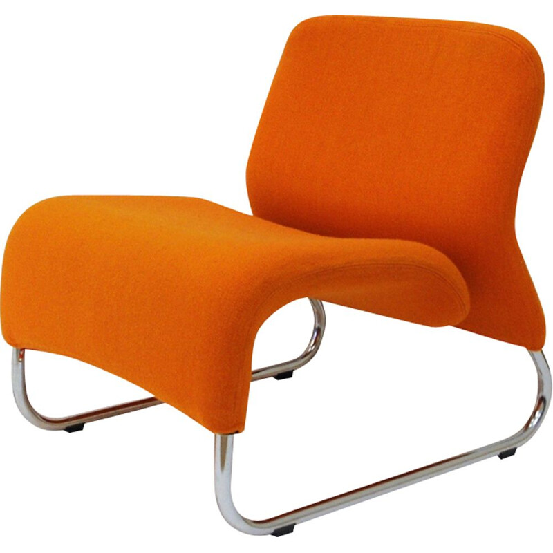 Vintage Lounge Chair Orange Ecco by Møre Design Team 1970, Norway