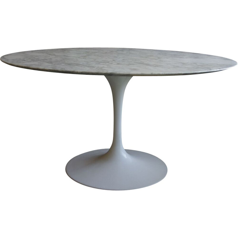 Vintage table in marble Eero Saarinen for Knoll 1960s
