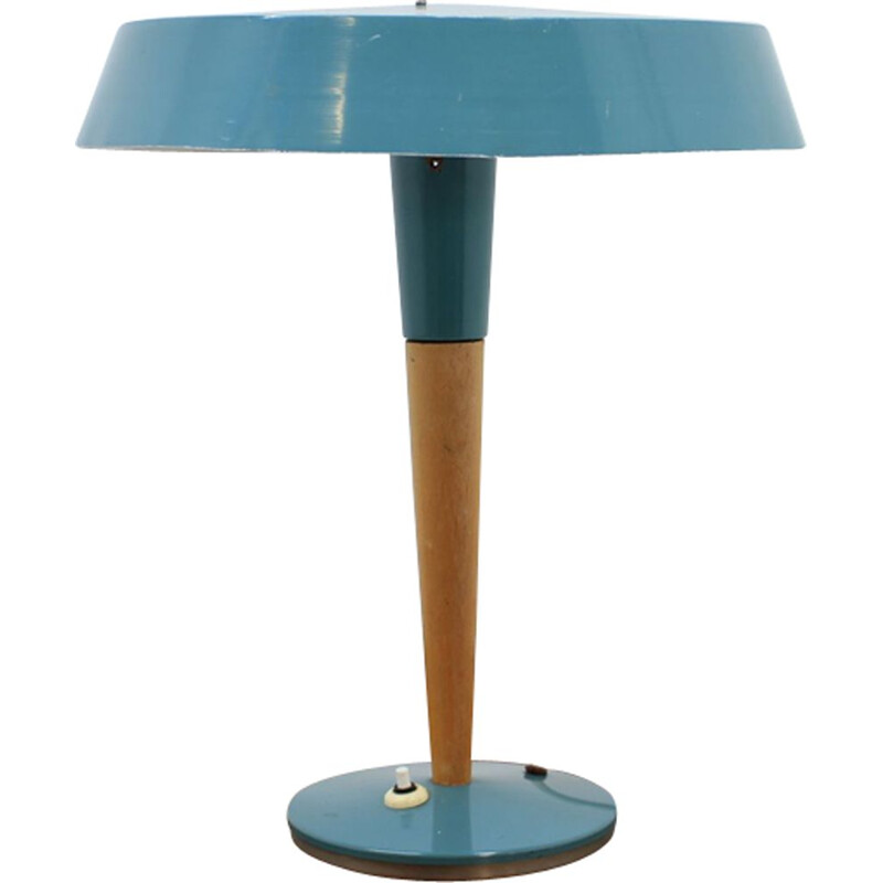 Vintage blue table lamp,1970