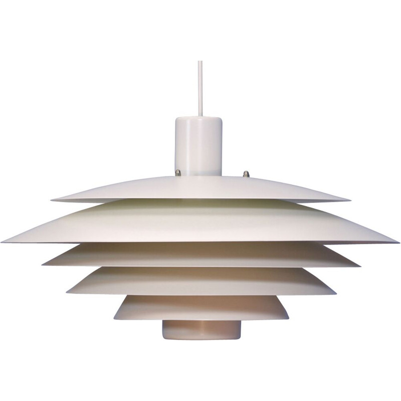 Large Danish pendant light in off-white by Form light,1970