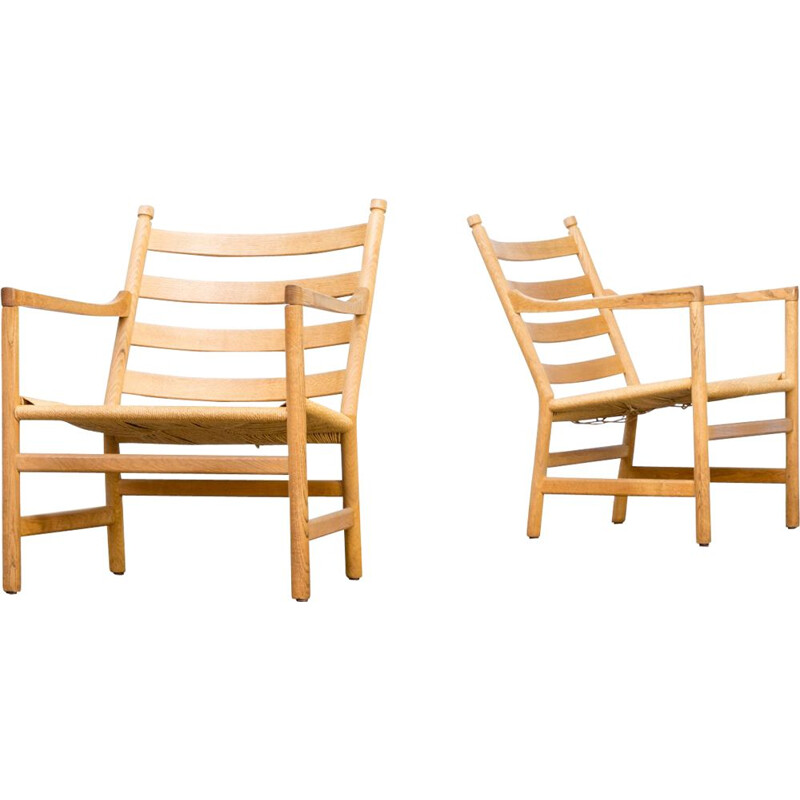 2 Vintage armchairs by Hans Wegner for Carl Hansen & Son,1960
