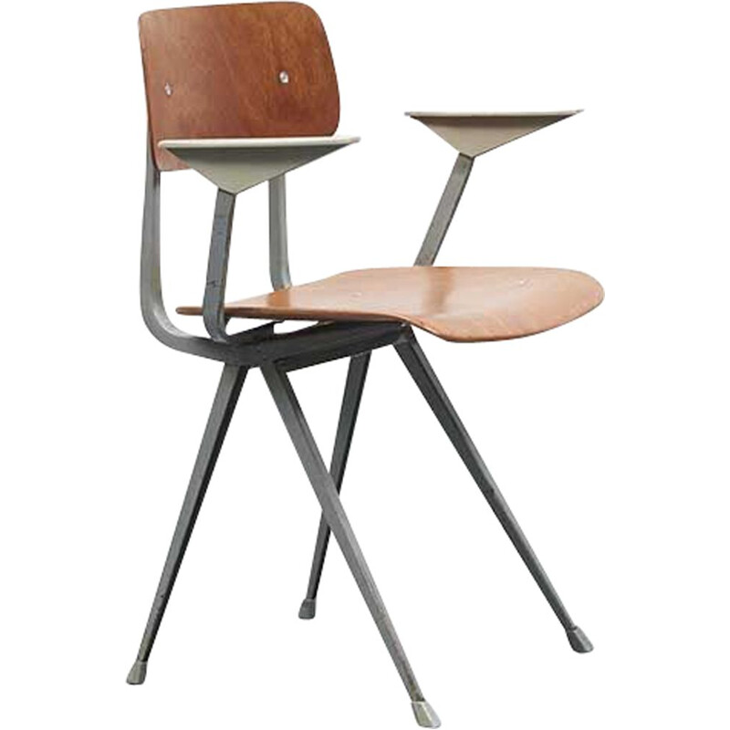 Vintage chair Result by Friso Kramer with armrests, 1958