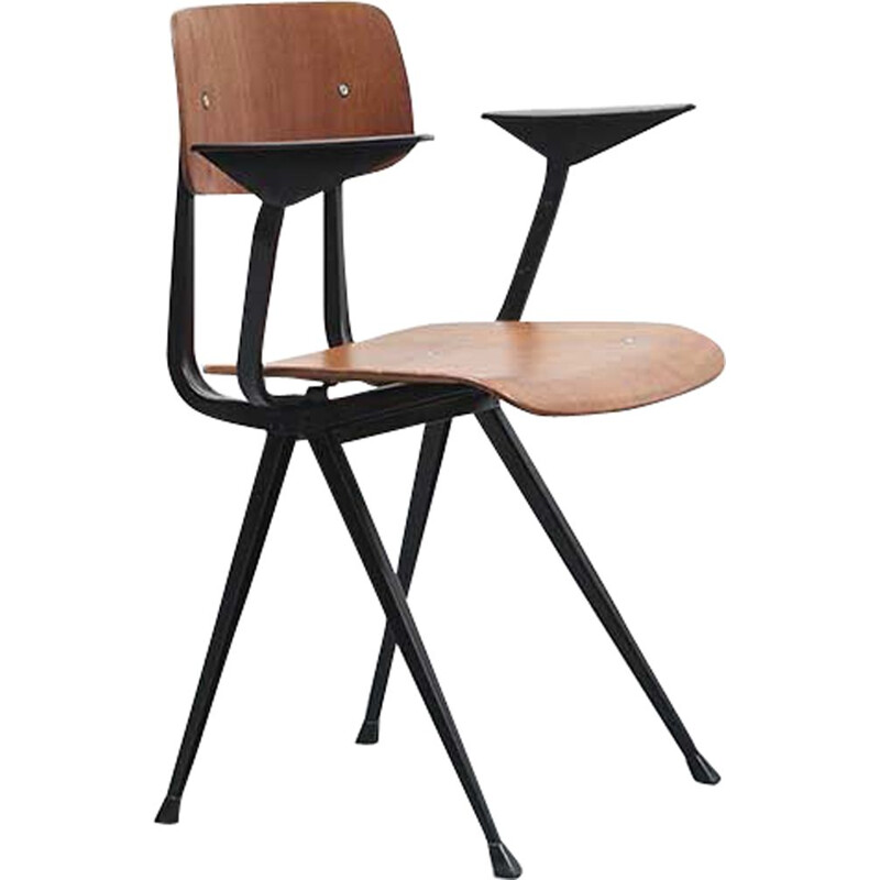 Vintage chair Result by Friso Kramer black base, 1958