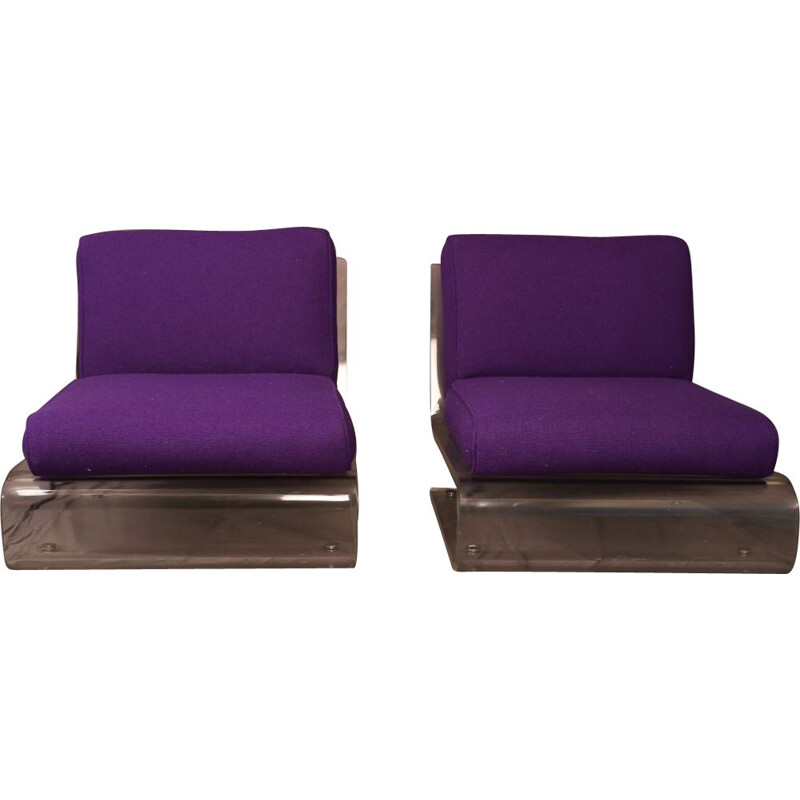Pair of Glassflex armchairs by Jacques Charpentier