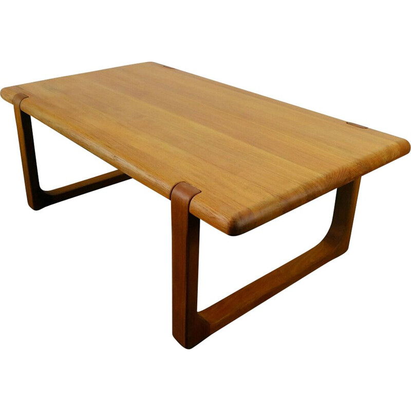 Vintage Coffee Table Niels Bach in solid teak, Denmark