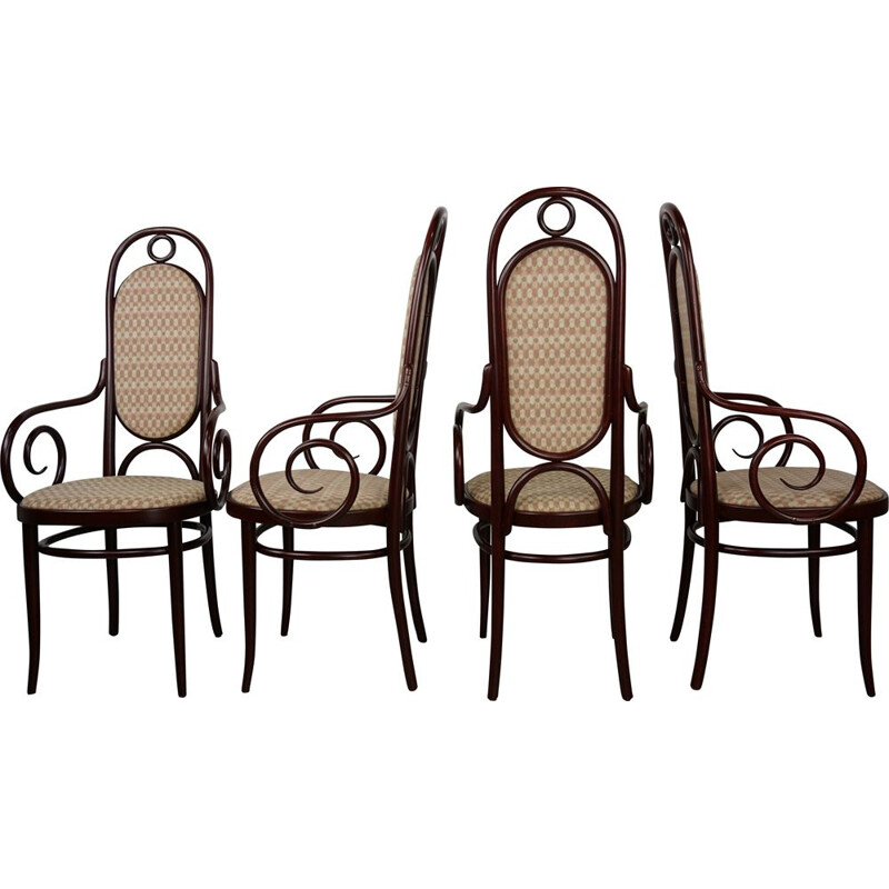 Set of 4 vintage chairs Thonet n 17 or Long John
