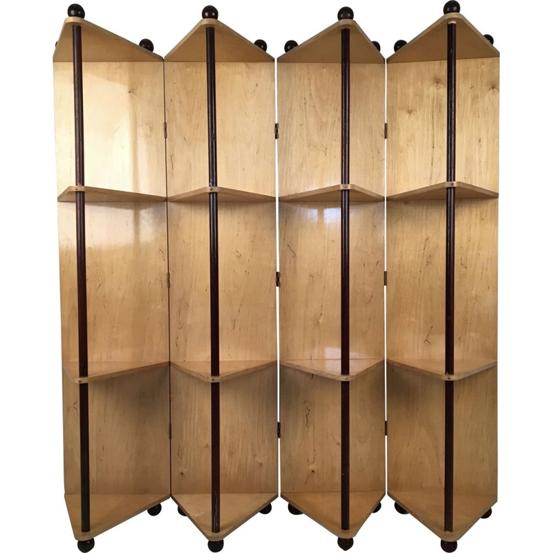 Vintage Room Divider Prototype Metamorphic Shelving System, 1980s