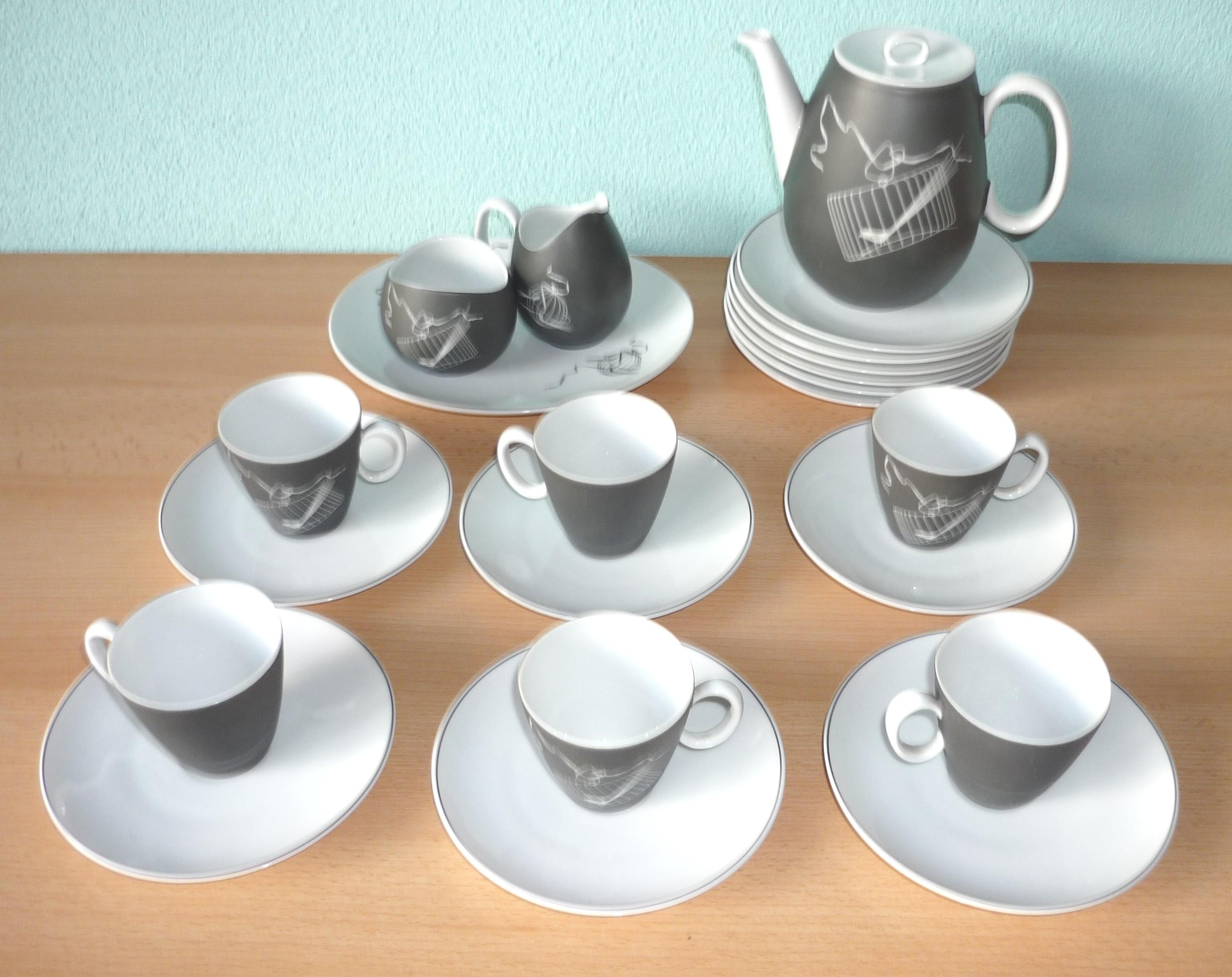 Ceramic Coffee Serving Set Raymond Fernand Loewy 1950s Previous Next