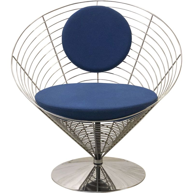 Wire Cone armchair by Verner Panton for Fritz Hansen